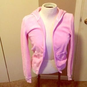 Pink terry Juicy Couture hooded jacket